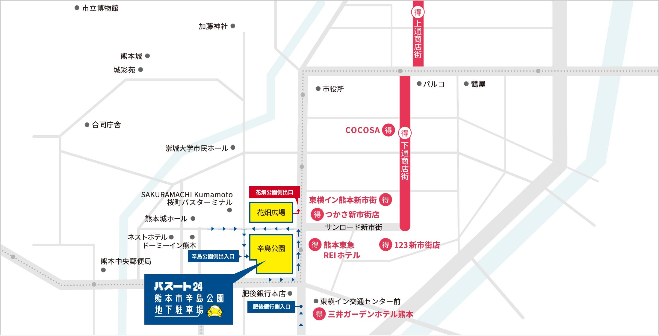 地下駐車場の概要マップ
